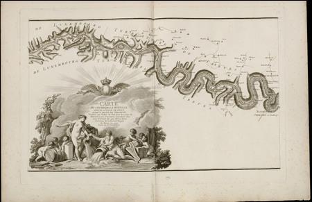 Carte du cours de la Moselle