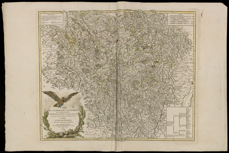 Carte de la Lorraine et du Barrois ...