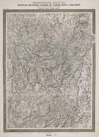 Départemens français. Moselle, Meurthe, Vosges, Hte Saône, Haut et Bas Rhi…