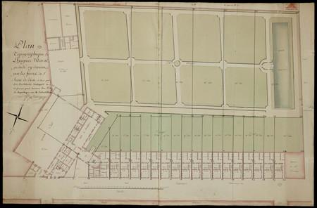 Plan topographique de l'hospice Marat, possédé cy-devant par les frères de…