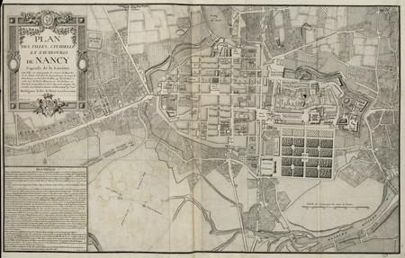 Plan des villes, citadelle et fauxbourgs de Nancy, capitale de la Lorraine