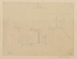 Ana Capri, vue intéreure d'une cour de maison