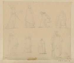 Etudes de personnages drapés à l'antique