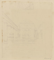 Vue intérieure d'église