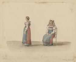 Femmes en robe traditionnelle