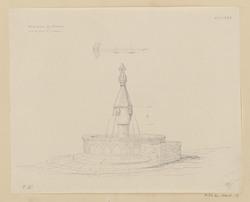 Fontaine en Peperin sur la place St Giovanni. Viterbe