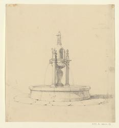 Saulieu, fontaine Saint Andoche