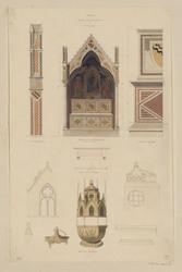 Anagni. Tombeau dans la cathédrale