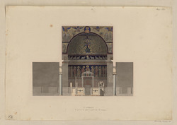 Saint Clément. La peinture des apôtres est postérieure à la mosaïque