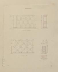 Barrières antiques en travertin à Palestrine, dans la cour du musée à Napl…
