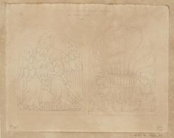 Antefisse du temple d'Hercule à Cori en terre cuite
