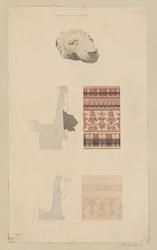 Fragments en pierre dans le musée