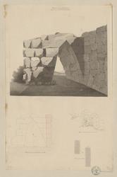 Arpino antique Arpinium. Murs et porte de l'ancienne ville