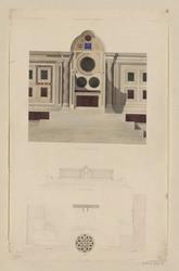 Saint-Laurent hors les murs, siège pontifical dans le fond du chœur