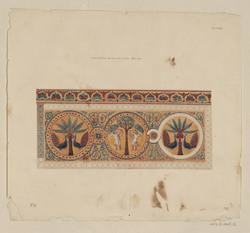 Dans le vestibule du palais de la couba. Mosaïque