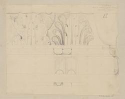 Arc de Titus, partie supérieure de la corniche