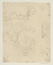 Arc de Titus. Détails du chapiteau