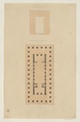 Girgenti. Plan du temple de la Concorde