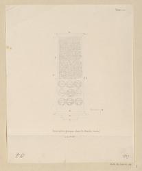 Venise. Inscription grecque dans le musée