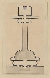Plan d'un bâtiment semi-circulaire