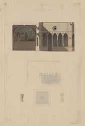Viterbe. Cloître placé derrière l'église deigradi couvent des Dominicains