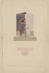 PompéII, deuxième fontaine en mosaïques et en coquilles