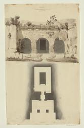 Faleri. Tombeau antique creusé dans le roc près de la ville