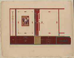 Fresque de la maison d'Ariane ou des chapiteaux colorés