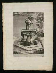Fontaine : satyre vidant une outre