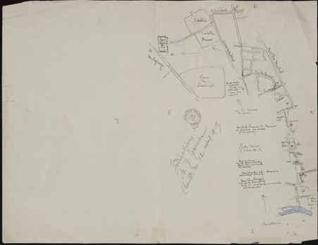 Plan partiel de Nancy montrant les bombardements du 12 avril 1915