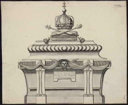 Tombeau du Roi de Pologne dessiné d'après l'original en plomb
