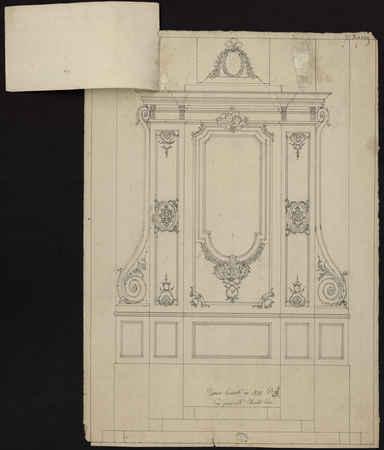 Dessein exécuté en 1822 payé par Mr [Monsieur] Charlot Curé