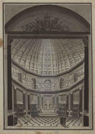 Intérieur de la chapelle ronde de l'église des Cordeliers