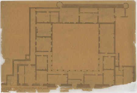 Plan du premier étage de la porte Saint-Jean