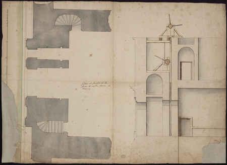 Plan et profil de la porte Notre Dame à Nancy