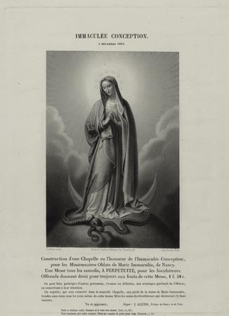Construction d'une chapelle en l'honneur de l'Immaculée Conception, pour l…