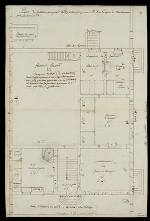 Plan du château projeté de construire pour M. du Parge à Ambacourt près de…