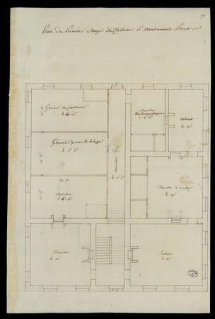 Plan du premier étage du château d'Ambacourt