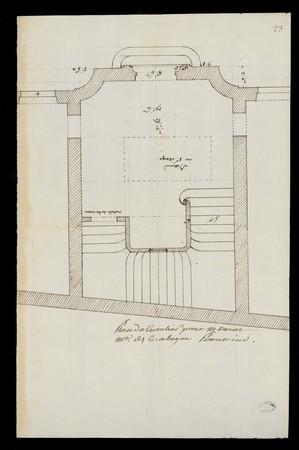 Plan de l'escalier pour M. Drouot à Bayon
