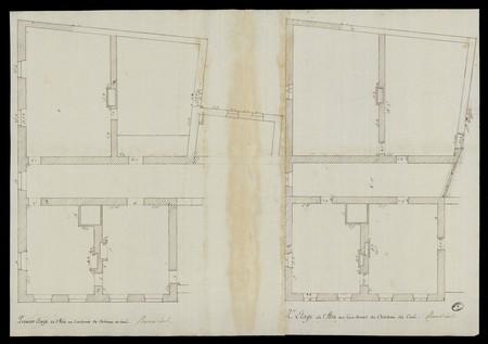 Premier et second étage de l'aile au couchant du château de Cirey-sur-Vezo…