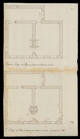 Premier et second étage de l'aile au levant du château de Cirey-sur-Vezouze