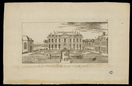 Vue du Château de Frescati du côté de la grille d'entrée