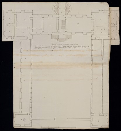 Plan de l'ancien château de Lunéville