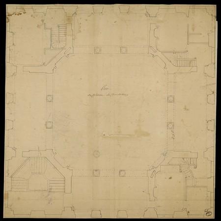 Plan du château de Chanteheux