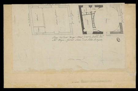 Plan des deux loges situées dans le jardin de Mr Mique, faisant partie des…