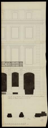 Façade de la maison de M. Croisier, marchand à Lunéville