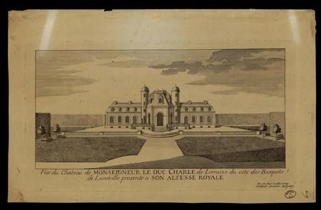 Vue du château de monseigneur le duc Charles de Lorraine du côté des bosqu…