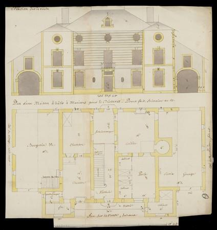 Plan d'une maison à bâtir à Manières pour le Cn Cosserat