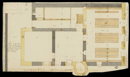 Plan de la maison d'école de Moriville