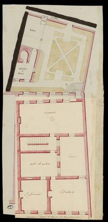 Plan de la maison d'école de Rambervillers